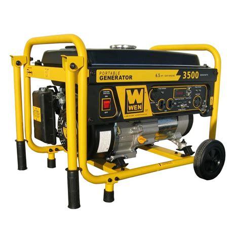 wen 3 500 watt gasoline powered portable generator with
