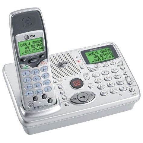 at t 5655 5 8g cordless phone answering system wireless