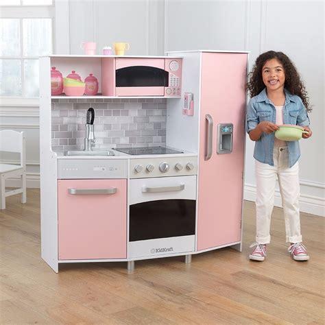 cocina de juguete de madera  ninas kidkraft color rosa