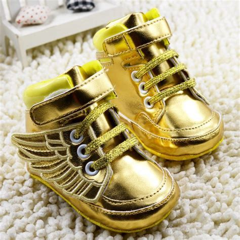 gold shoes baby 2015 new gold baby shoes boys baby sneakers soft