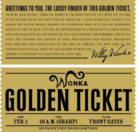 free golden ticket template 25 best ideas about golden ticket on wonka