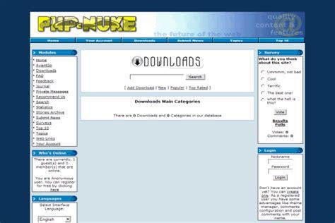 Web Portal Instan Asp Nuke php nuke hosting kualo