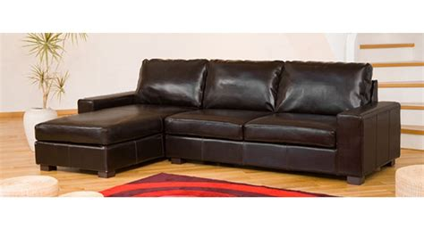 Corner Brown Leather Sofa Leather Corner Sofa In Black Brown Homegenies