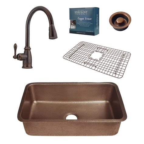 kitchen faucet and sink combo sinkology pfister all in one orwell 30 in undermount