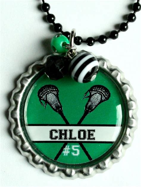 lacrosse christmas gifts items similar to personalized lacrosse necklace great gift for lacrosse player or team any