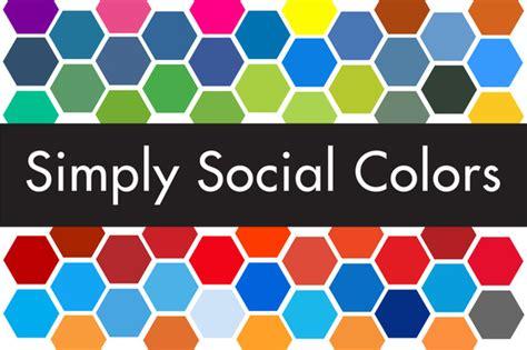 simply market siege social simply social colors palettes on creative market