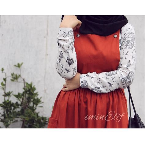 Dress Wanita Overall Tenun 3 4 390 likes 1 269 comments elif tesettur