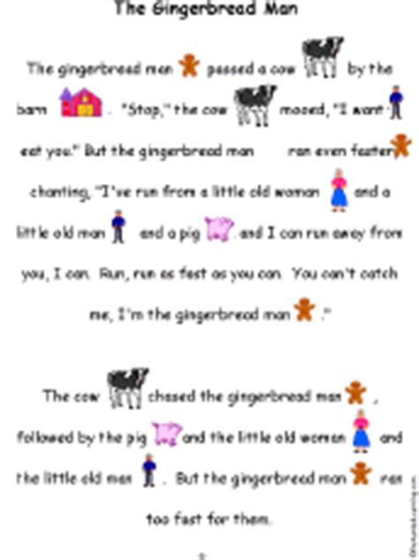 gingerbread man story printable pdf the gingerbread man book a printable book