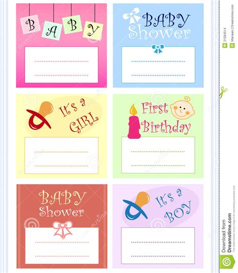 baby sts for card baby card set stock illustration illustration of born