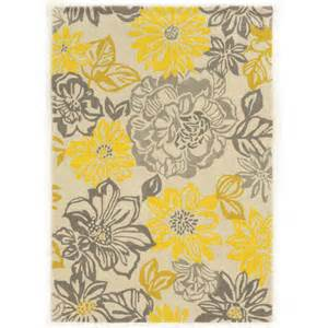 Gray And Yellow Kitchen Rugs Linon Rugs Trio Grey Yellow Area Rug Reviews Wayfair