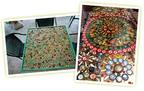 twenty four twenty one bottle cap coffee table