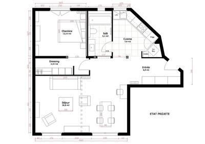 Plan Appartement 65m2 by Appartement 3 Pi 232 Ces 65m2 Cr 233 Ateurs D Int 233 Rieur C 244 T 233 Maison