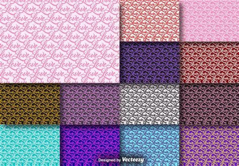 seamless pattern collection word love seamless pattern collection download free