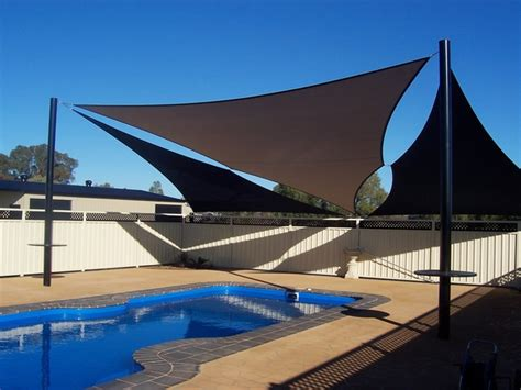 patio sail awnings 20 pool shade ideas to protect you during hot summer days