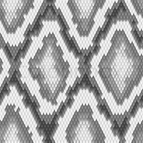 snake pattern black and white seamless python snake skin pattern vector illustration