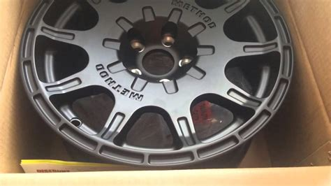 subaru rally wheels subaru rally team usa method gravel wheel unboxing youtube