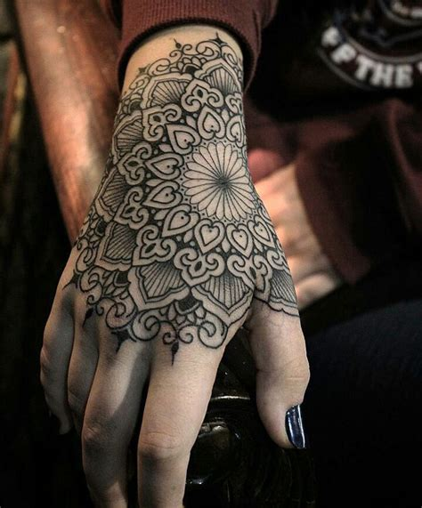 tattoo on hand round mandala hand tattoo best tattoo design ideas