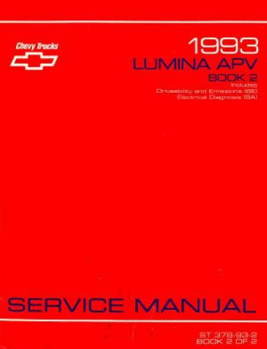 service manuals schematics 1993 chevrolet lumina apv regenerative braking used 1993 chevrolet lumina apv service manual book 2 of 2