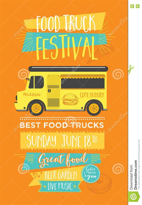 Food Truck Party Invitation Food Menu Template Design Food Fly Stock Vector Image 72236484 Food Template