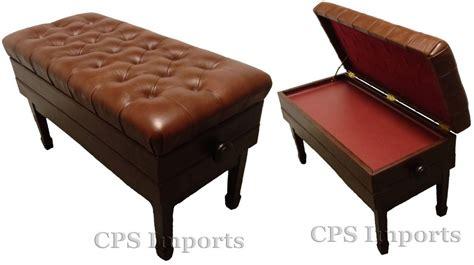 concert piano bench adjustable duet size concert piano bench walnut satin