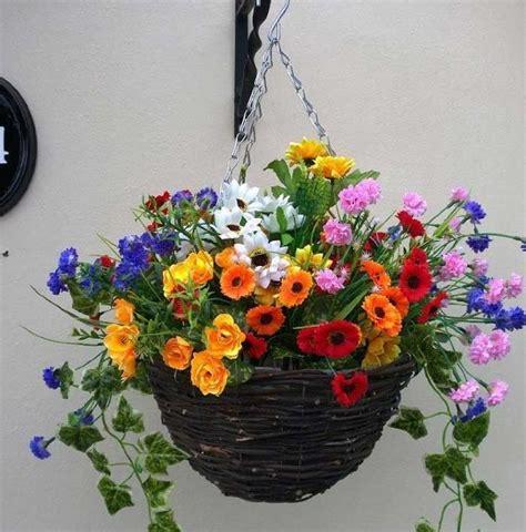 design hanging flower baskets 25 best ideas about artificial hanging baskets on