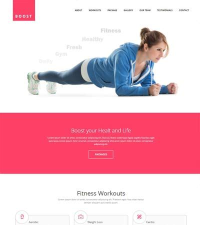 bootstrap templates for gym bootstrap templates archives page 2 of 18 webthemez