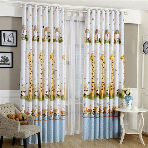 curtains for kids bedroom aliexpress com buy hot cartoon giraffe pattern finished