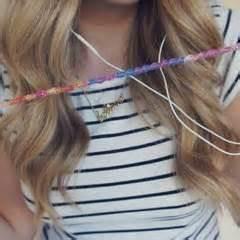 friendship bracelet headphones headphones jewelry making  knotting macrame  cut