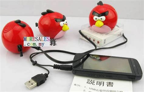 Plush Card Reader Speaker Yellow Angry Birds Mini Speaker angry bird small speaker for mobile phone mp3 player tablet 2514 with tf card slot moresales