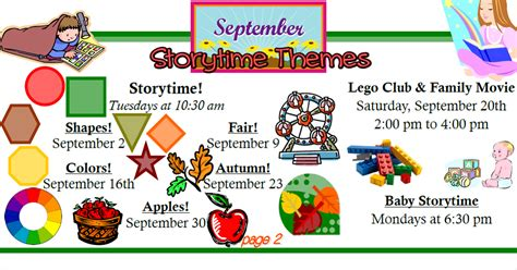 storytime themes for march news at spencer public library september storytime themes