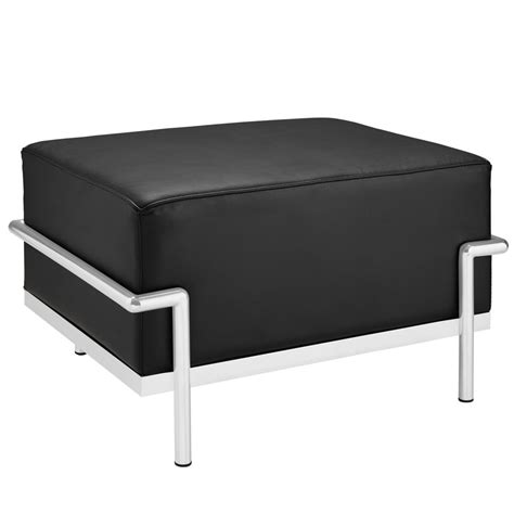 large leather ottoman simple large leather ottoman modern furniture brickell