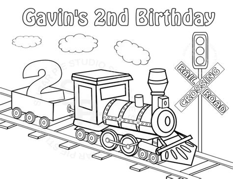 mickey mouse train coloring pages personalized printable transportation choo choo by