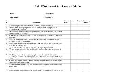 pattern analysis en francais questionnaire recruitment selection