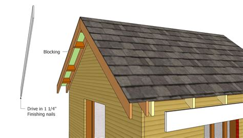 How To Build A Shed Roof Overhang by Installing The Front Overhang Second Shed