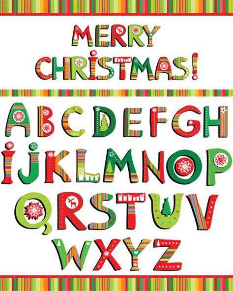 christmas alphabet letters design vector set  christmas alphabet alphabet letters design
