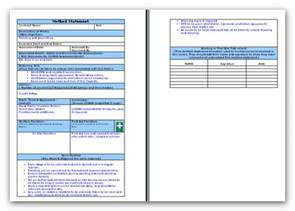 risk statement template business continuity impact analysis risk assessments and