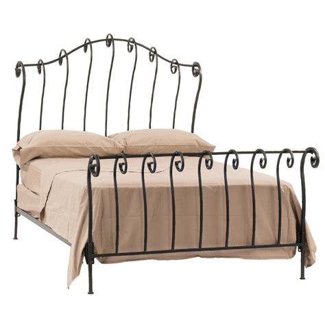 rod iron bed stratford sleigh bed