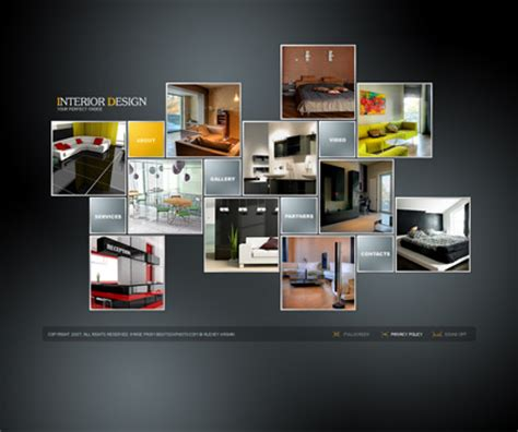 interior design flash photo video gallery template