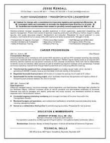 Comprehensive Resume Exle by Exle Fleet Manager Resume Free Sle
