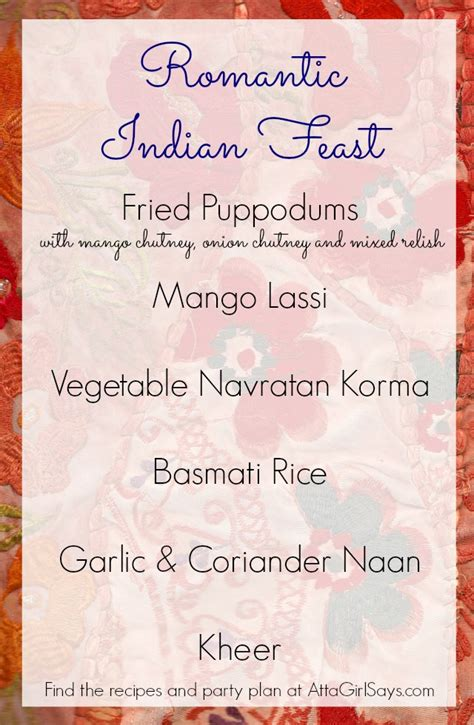 intimate dinner menu indian dinner for two atta says