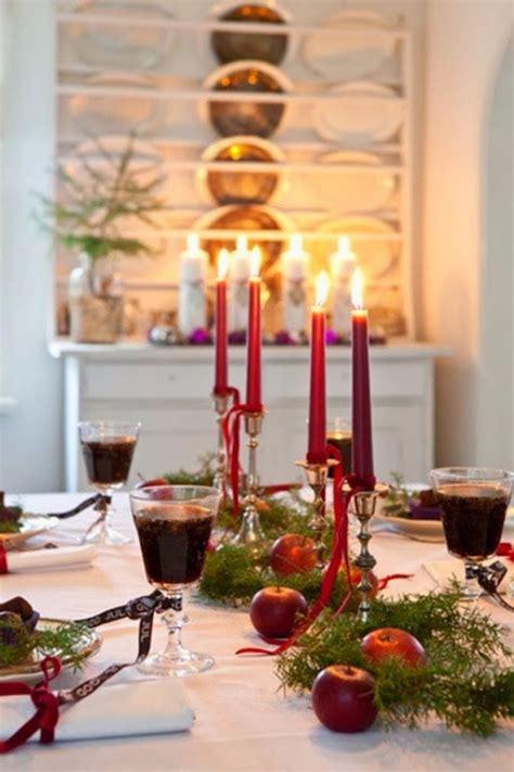 60 christmas dining table decor in red and white family