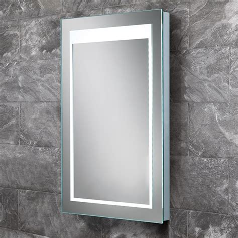 steam free bathroom mirrors hib liberty led steam free bathroom mirror 400 x 600mm