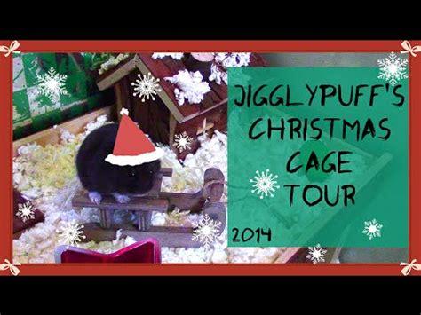 jigglypuff s christmas themed hamster cage tour 2014
