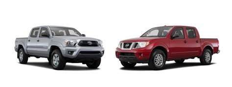 nissan tacoma truck small truck comparison nissan frontier v toyota tacoma