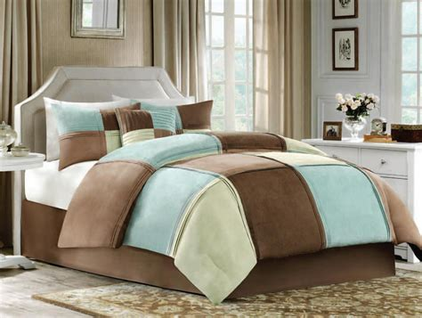 synthetic comforter cannon jackson blue green and brown blocks synthetic