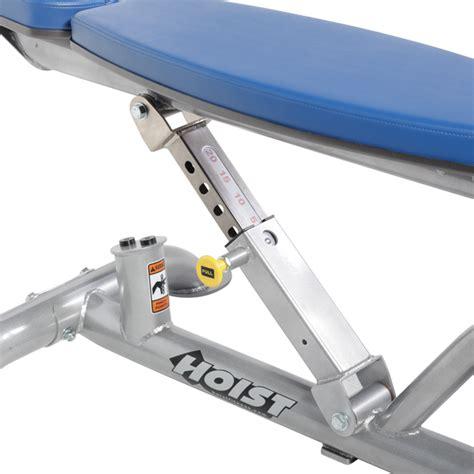 hoist adjustable decline bench cf 3162 adjustable flat decline bench hoist fitness