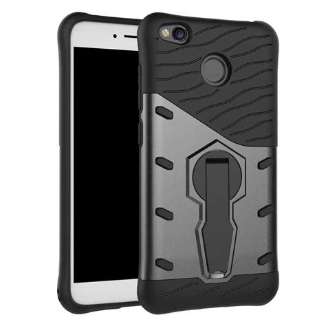 Rugged Slim Armor Back Cover Casing Xiaomi Redmi 3 Standing Kic For Xiaomi Redmi 4x Shockproof Rugged Armor Hybrid