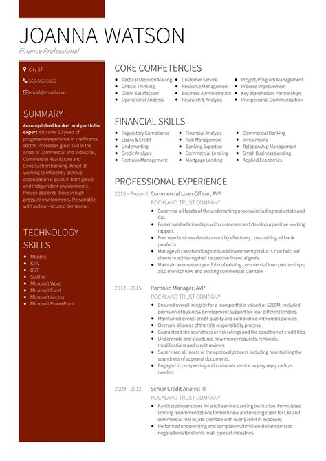 banking resume format colorful sle bank resume format illustration exle