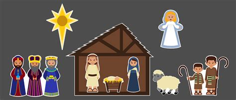 printable nativity scene cutouts lesson plans of an ocd primary chorister christmas song