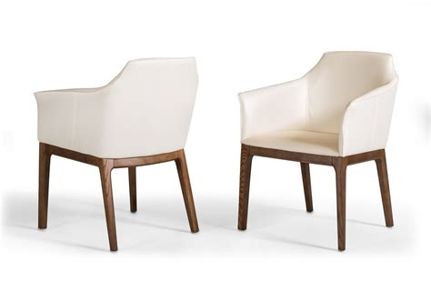 Contemporary Walnut Dining Chairs Modrest Modern Walnut Dining Chair
